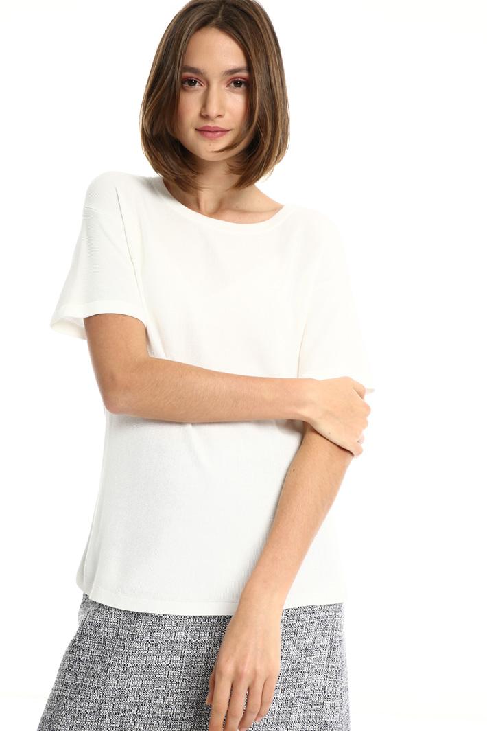 Short sleeve viscose sweater Intrend