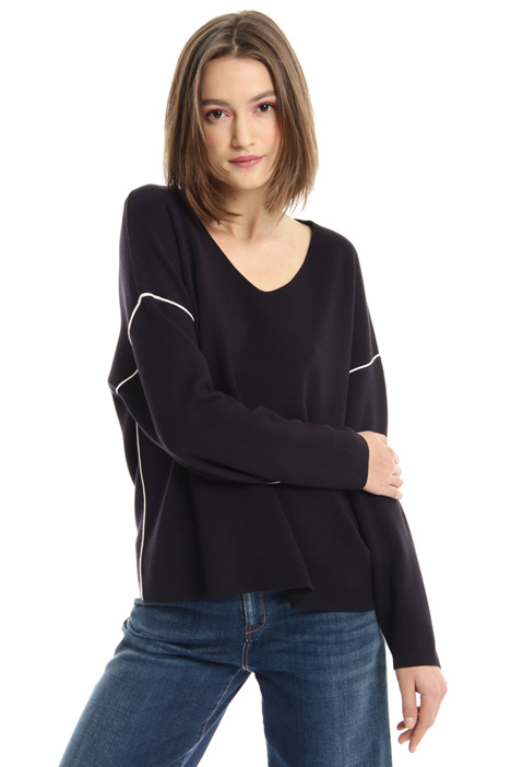 Drop shoulder viscose sweater Intrend