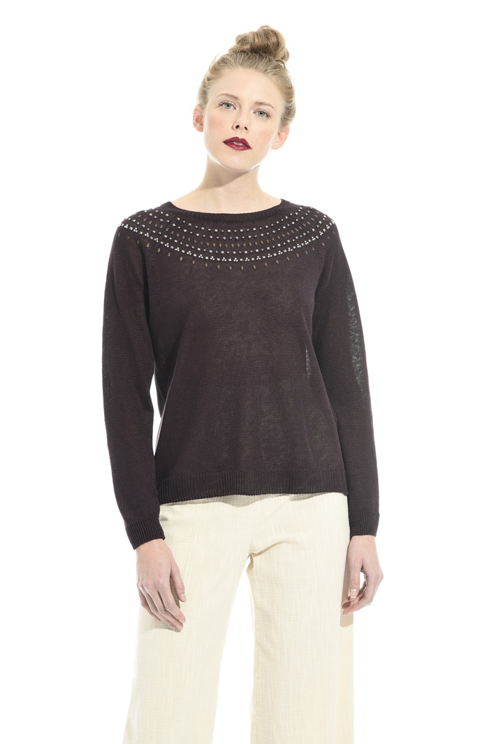 Pure linen yarn sweater Intrend