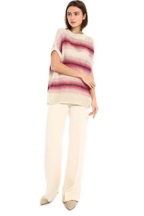 Dropped shoulder linen sweater Intrend