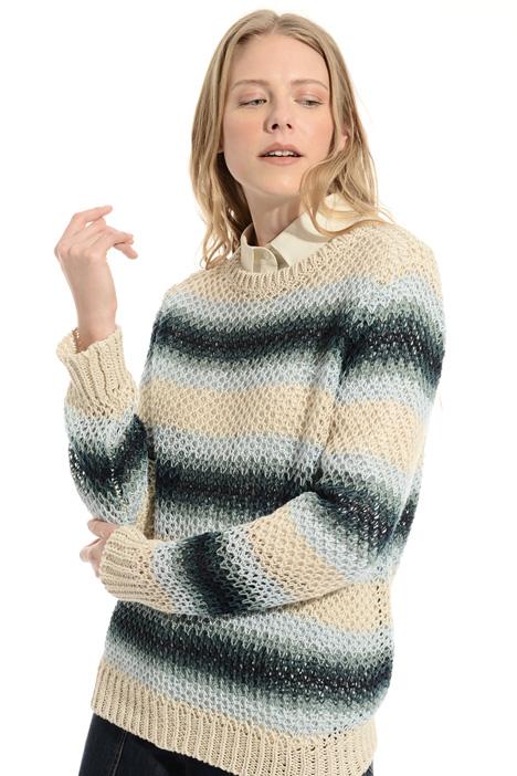 Linen mesh sweater Intrend