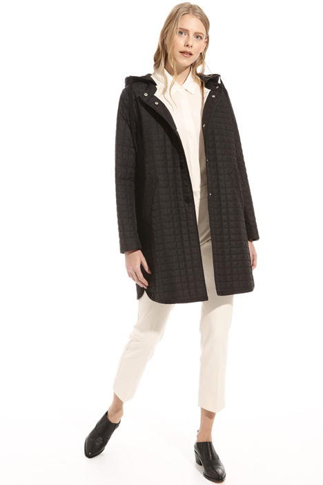 Hooded quilted coat Intrend