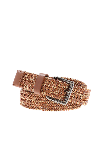 Leather and cotton belt Intrend
