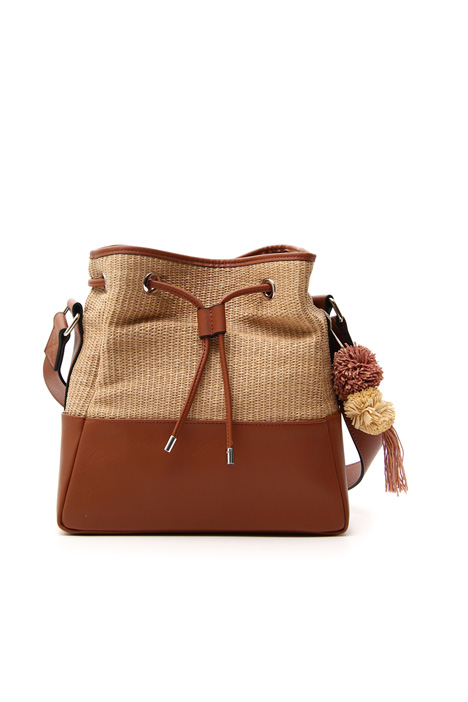 Raffia bucket bag Intrend