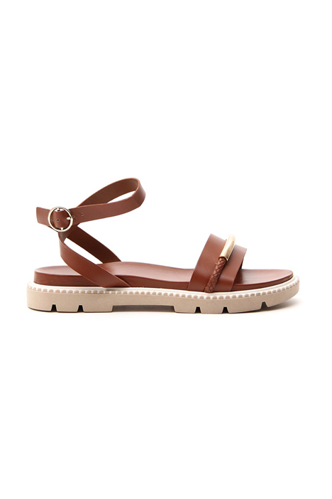 Low leather sandal    Intrend