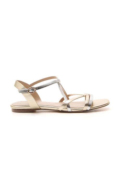 Flat leather sandal Intrend