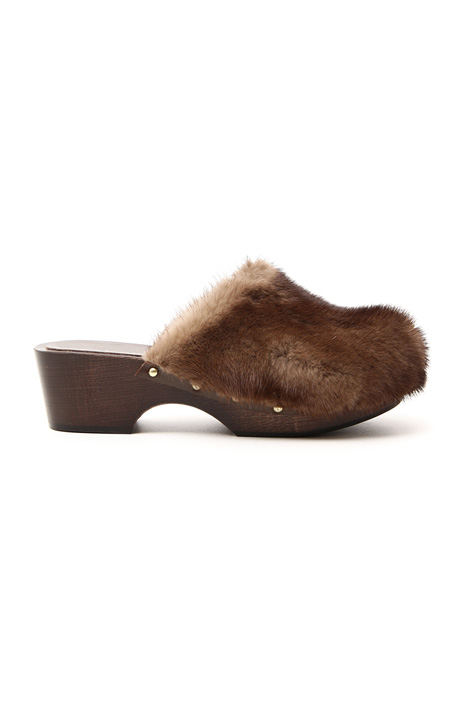 Wood and mink sabot    Intrend