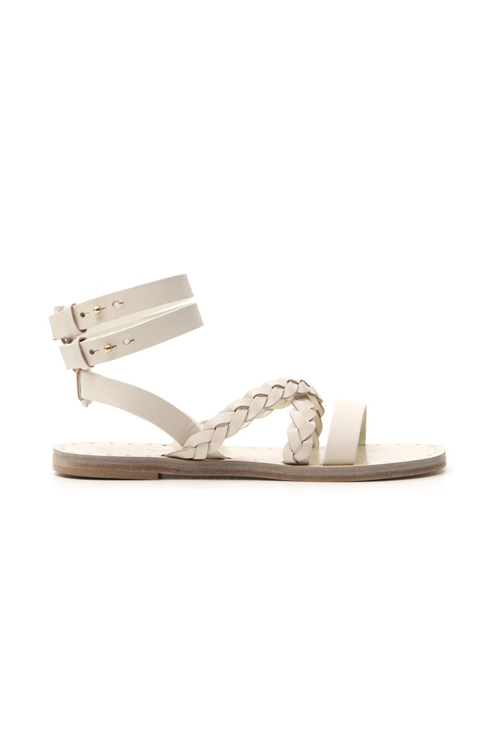 Leather sandal with straps Intrend