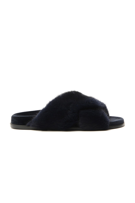 Mink and velvet slipper    Intrend