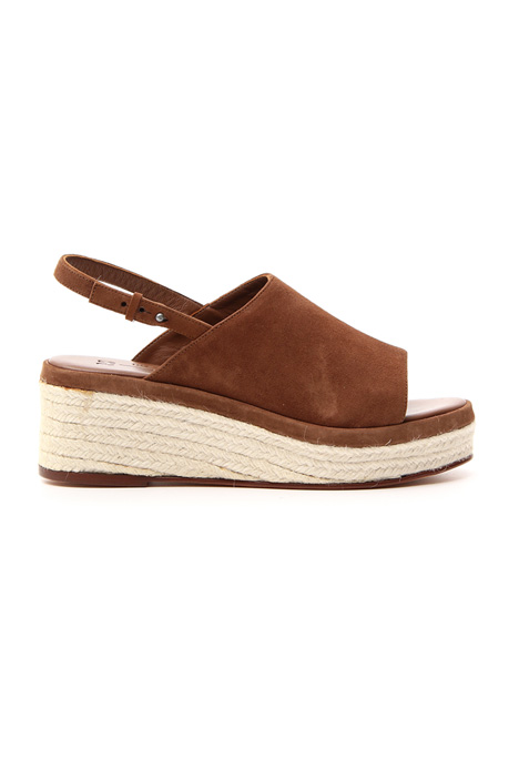 Suede wedged sandal  Intrend
