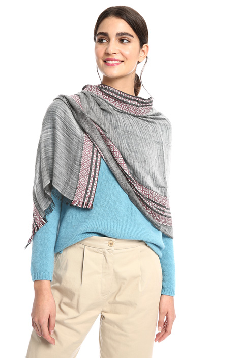 Cotton and linen stole Intrend