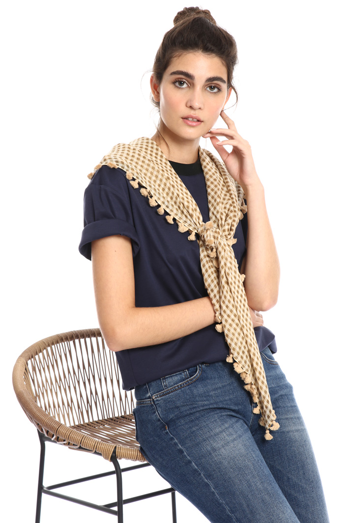 Scarf with tassels Intrend