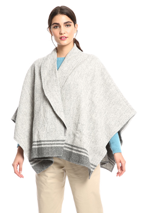 Alpaca and cotton poncho Intrend
