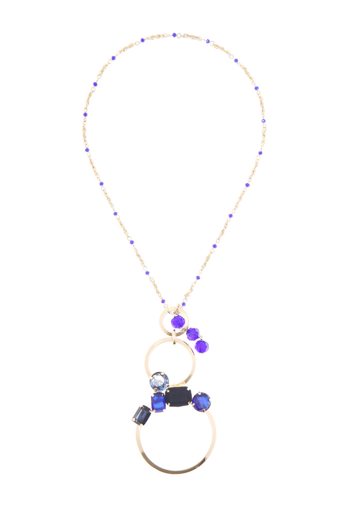 Glass and metal necklace   Intrend