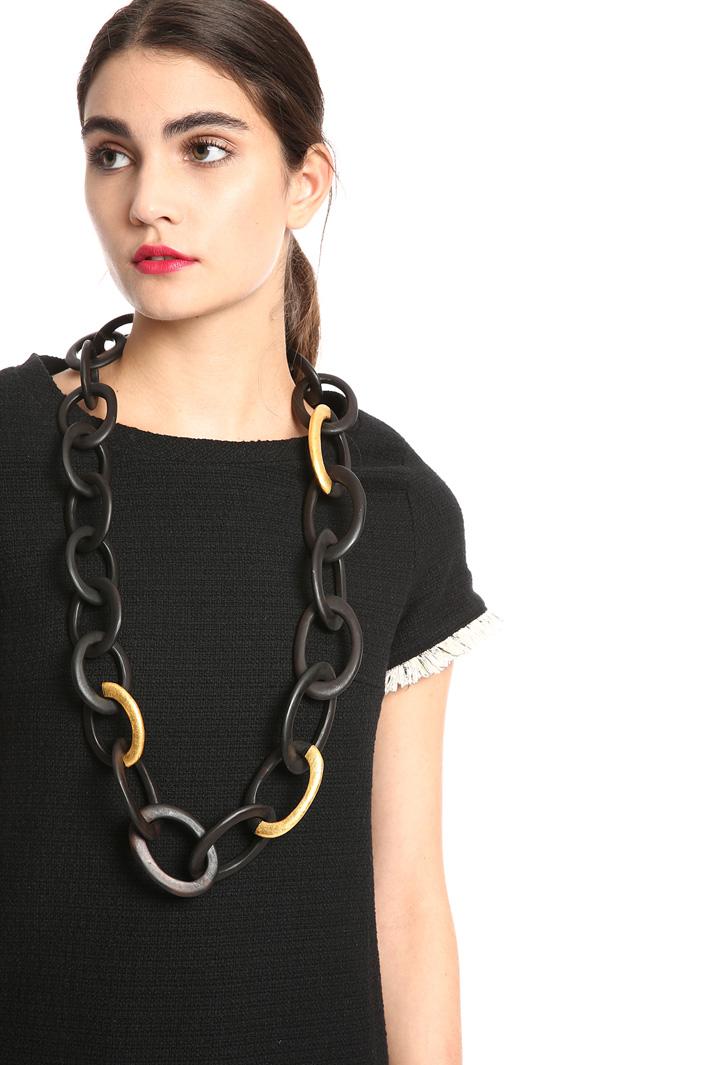 Long ebony chain   Intrend