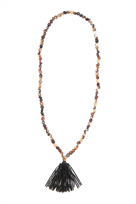 Necklace with glass tassel    Intrend