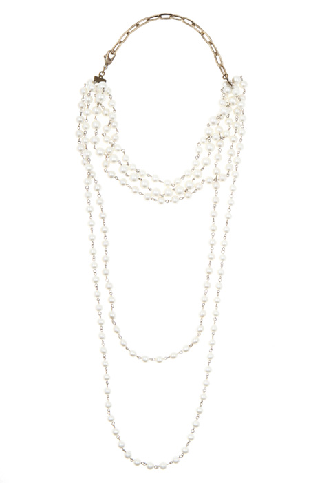 Multi-strand pearl necklace Intrend