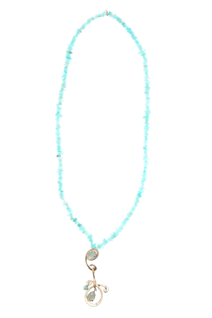 Necklace with stones and pendant   Intrend