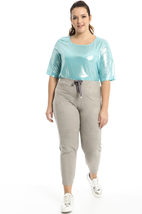 Coated jogging style trousers Intrend