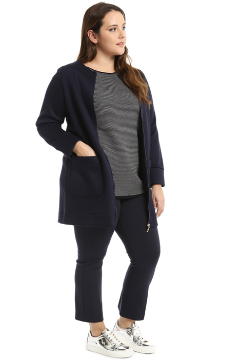 Compact jersey duster coat Intrend