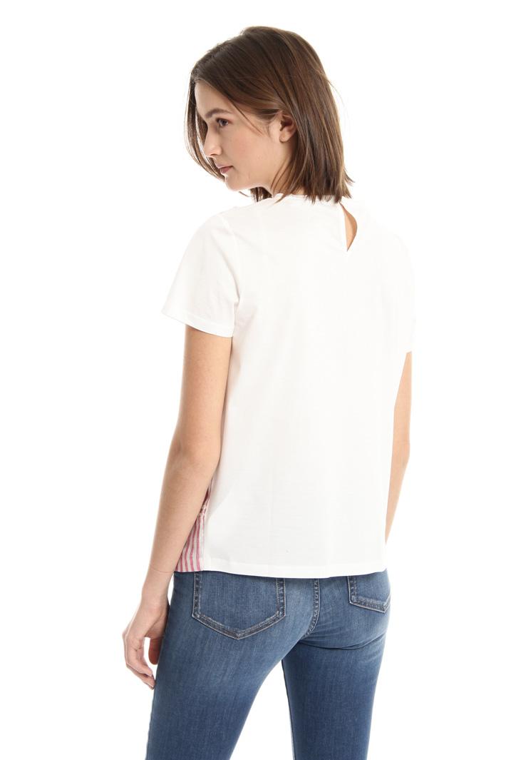 Jersey and linen T-shirt Intrend