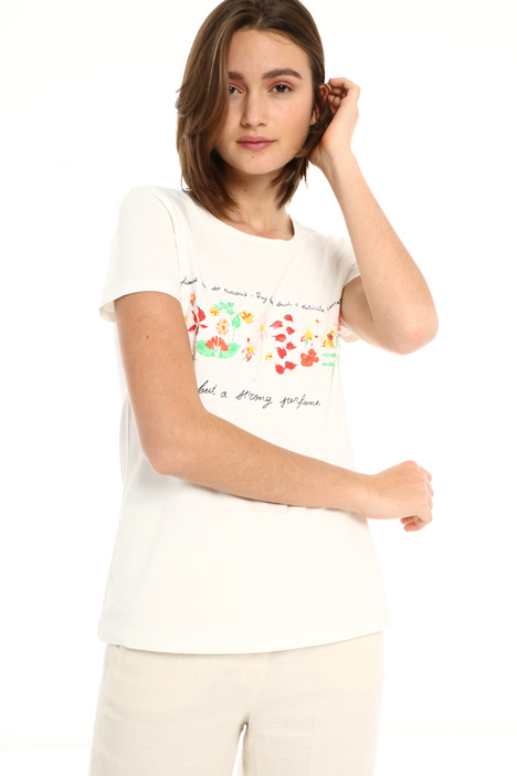 Embroidered printed T-shirt Intrend