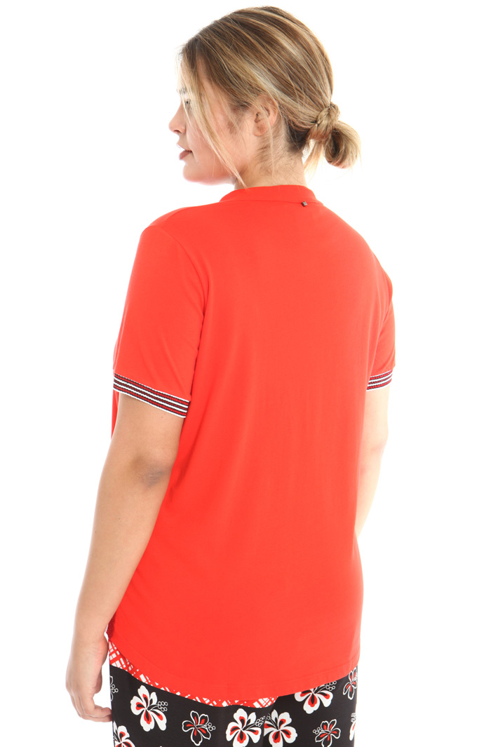 Cotton jersey polo T-shirt Intrend