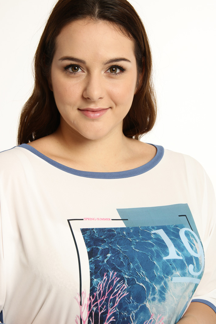 Jersey and fabric T-shirt Intrend
