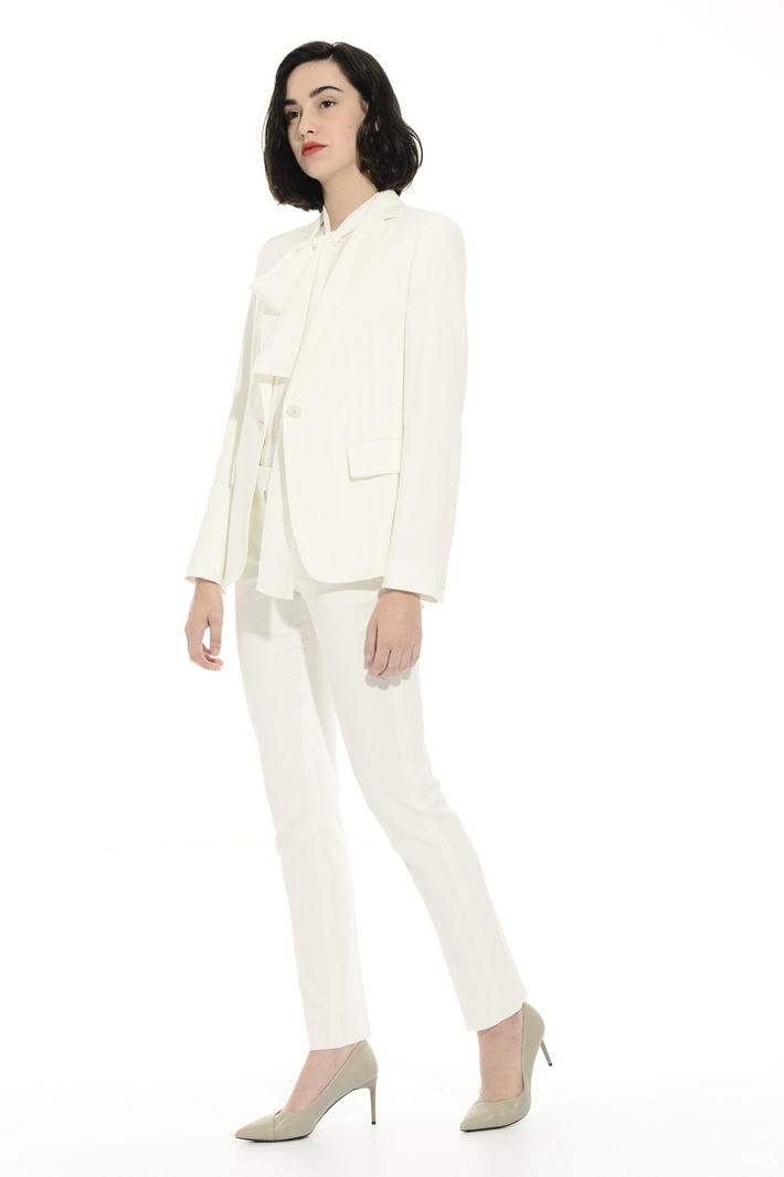 Cotton crepe cady blazer Intrend