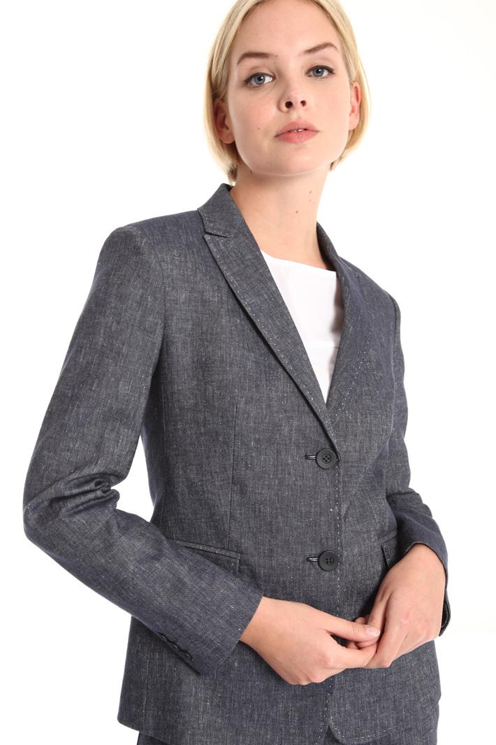 Linen and cotton blazer Intrend