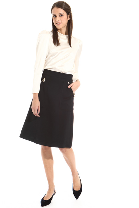A-line viscose skirt Intrend