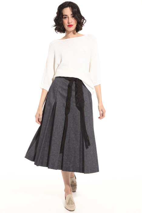 Denim effect skirt Intrend