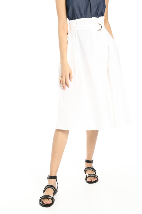 Belted poplin skirt Intrend