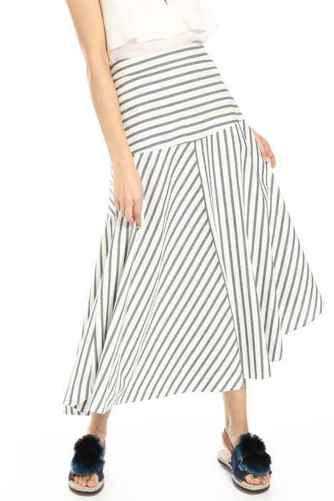Yarn-dyed striped skirt Intrend