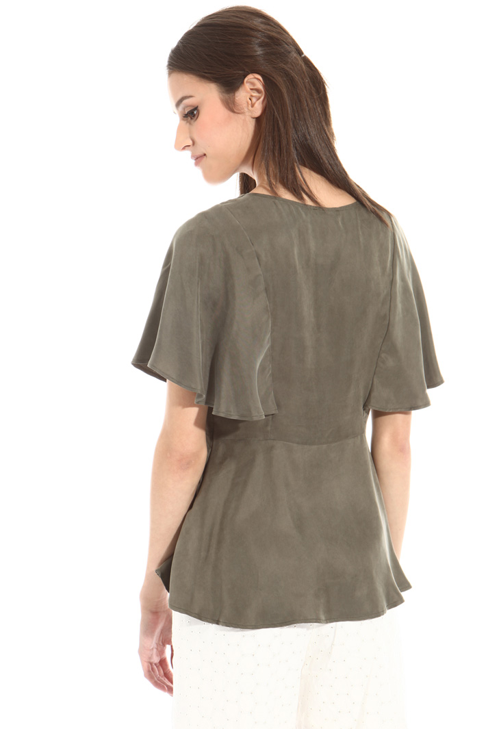 Basque top in twill fabric Intrend