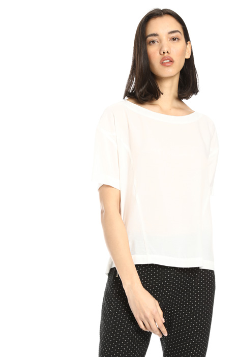 Boxy fit viscose T-shirt Intrend