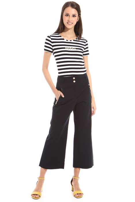 Double zip cotton trousers Intrend