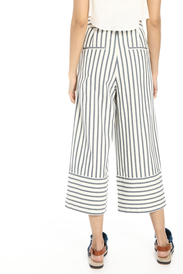 Wide leg cotton trousers Intrend
