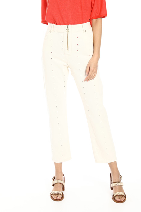 Perforated jeans Intrend