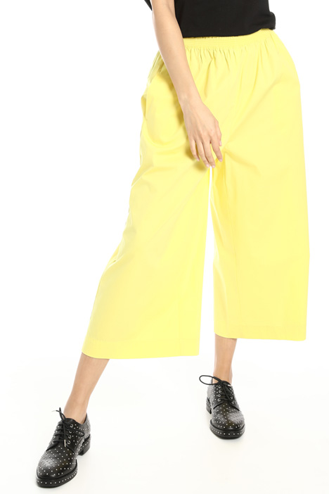 Cotton poplin palazzo trousers Intrend