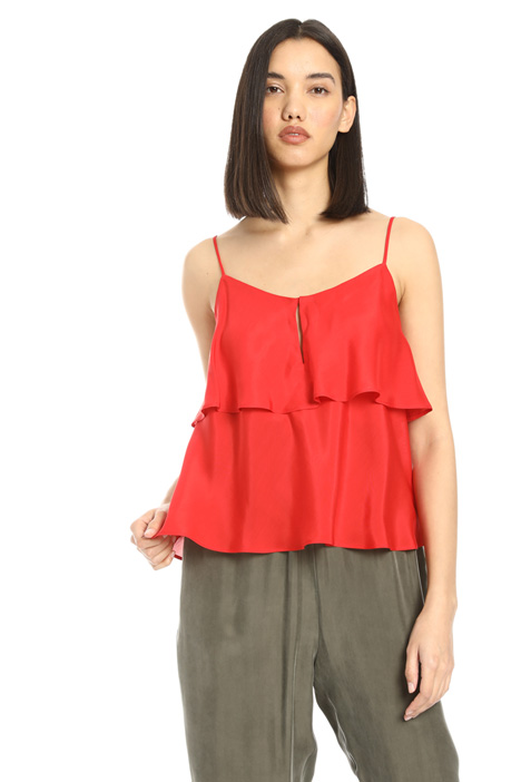 Overlay thin strap top Intrend