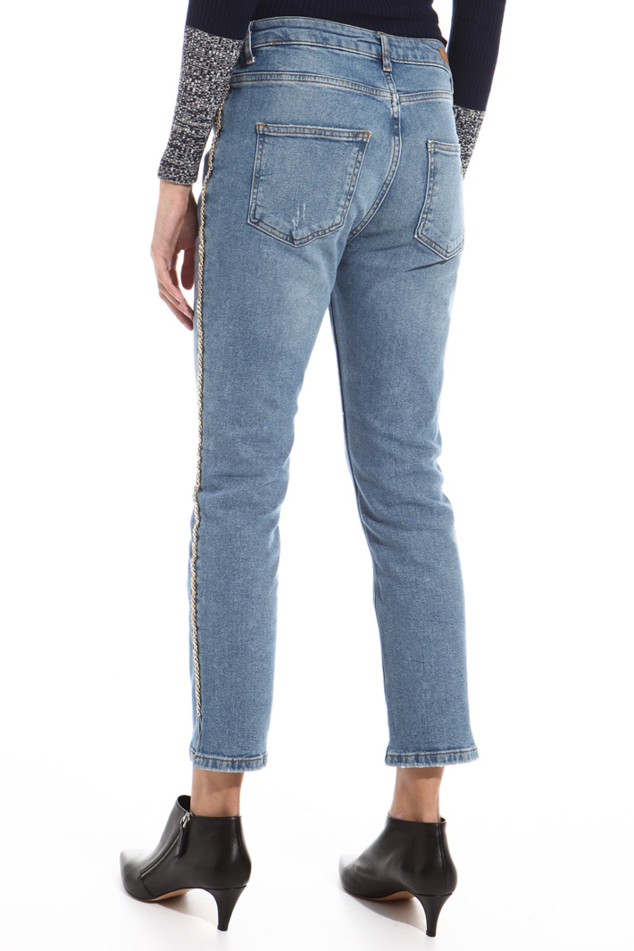 Chain trim jeans Intrend