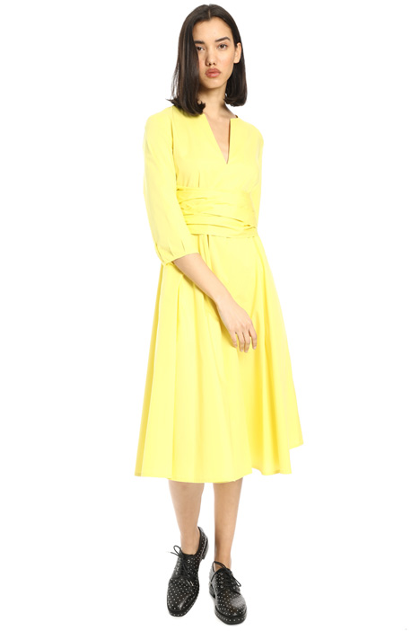 Belted pure cotton dress Intrend