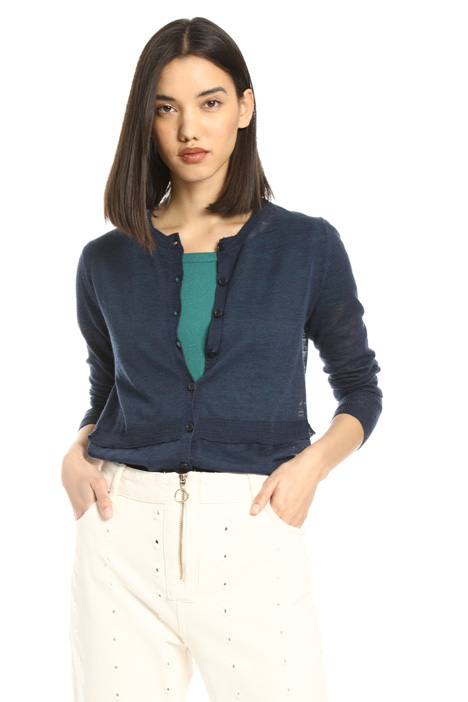 Cardigan in misto lino Intrend