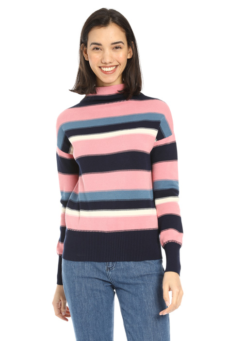 Striped viscose sweater Intrend