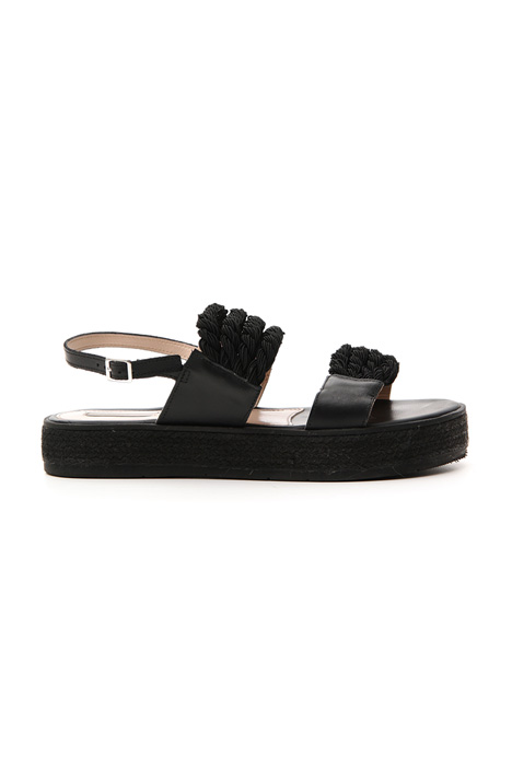 Rope and leather sandals Intrend