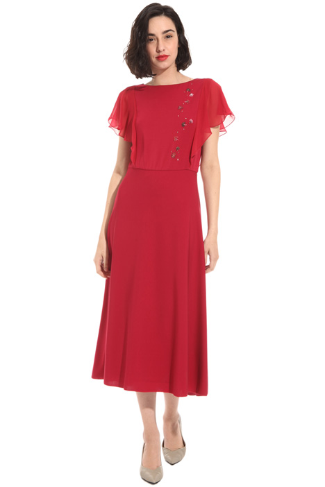 Flared crepe viscose dress Intrend