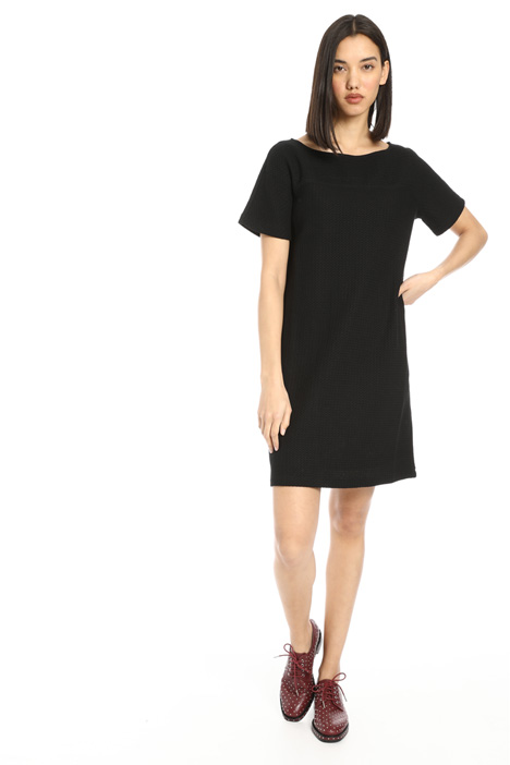 Oversized jersey pique dress Intrend