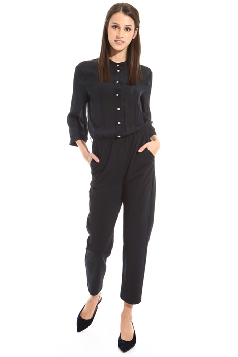 Silk and twill jersey jumpsuit Intrend