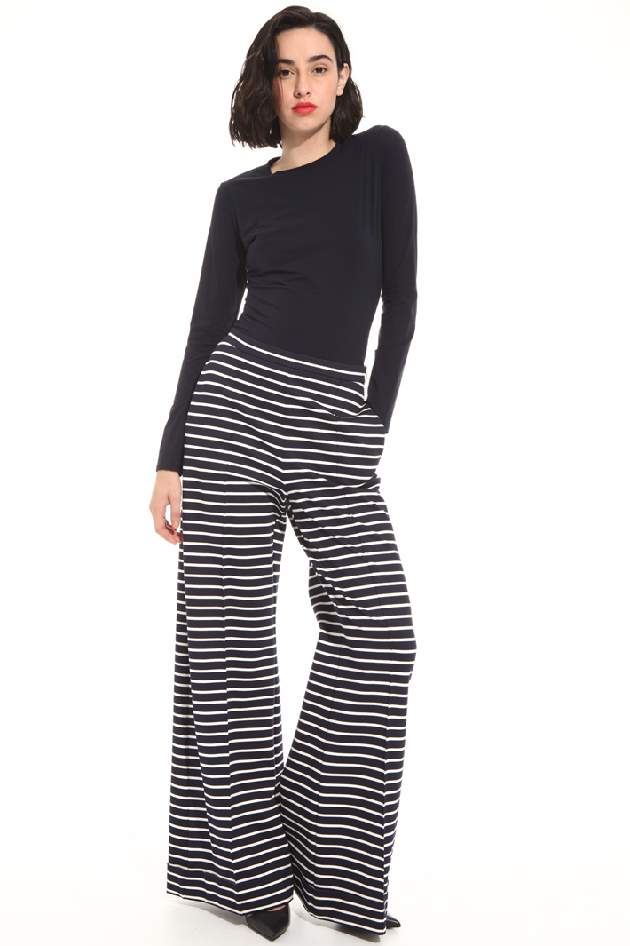 Printed jersey trousers Intrend